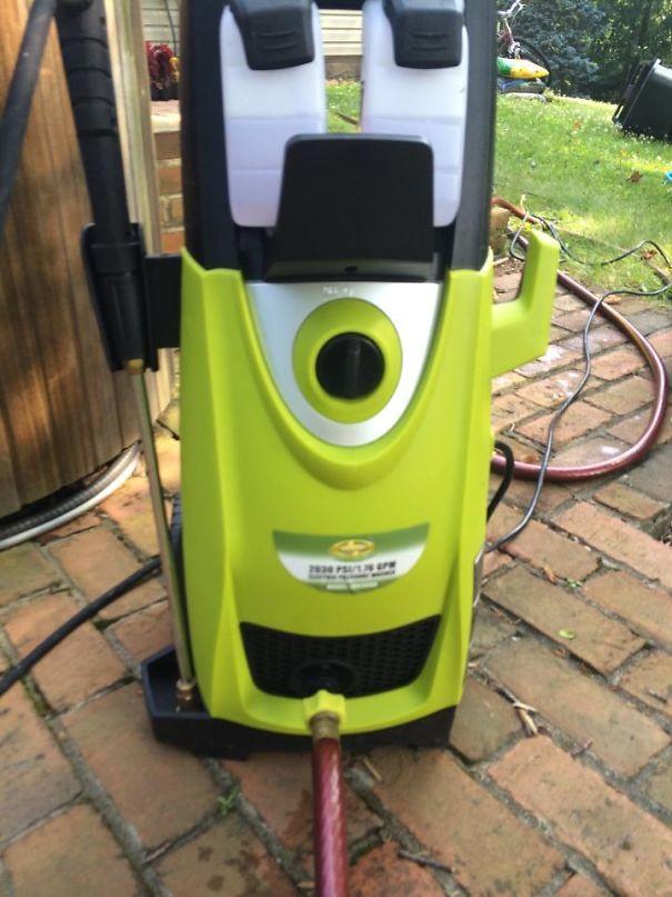 My Power Washer Looks Like Mike Wazowski