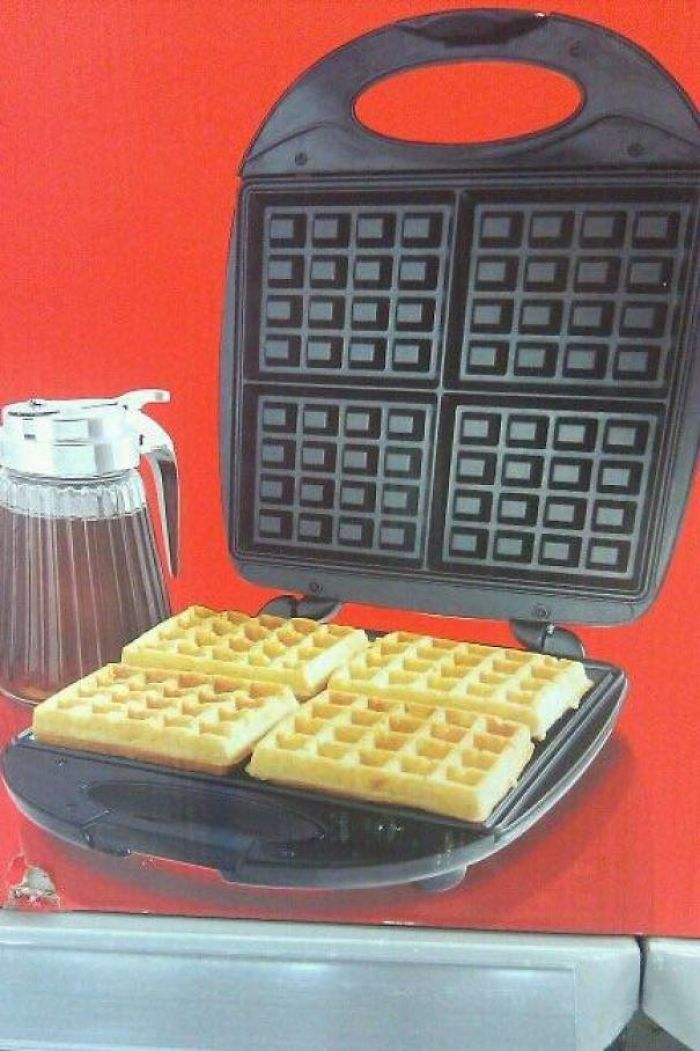 The Holes In The Waffles Don't Match The Holes In The Waffle Maker