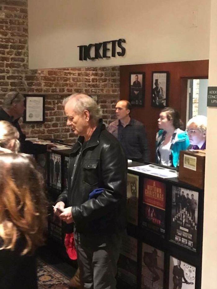 Bill Murray Went To A Bluegrass Concert In Charleston SC, Bought Every Remaining Ticket, And Handed Them Out To The People Waiting In Line