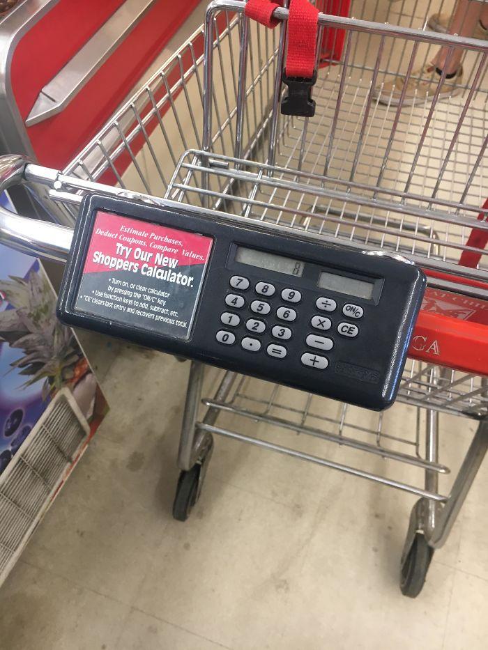 Carro de la compra con calculadora