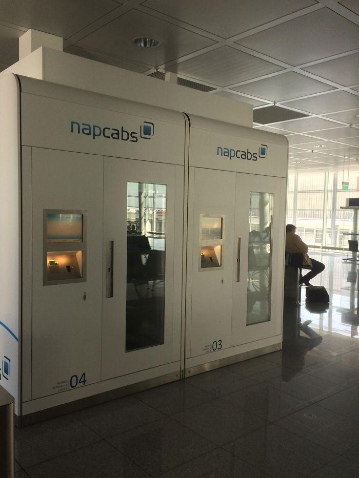 En este aeropuerto puedes alquilar espacios para dormir
