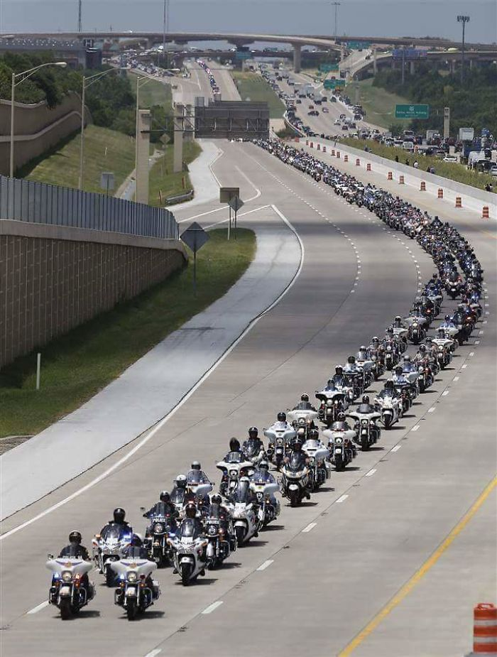 Funeral Procession For The Fallen Dallas Police Officers