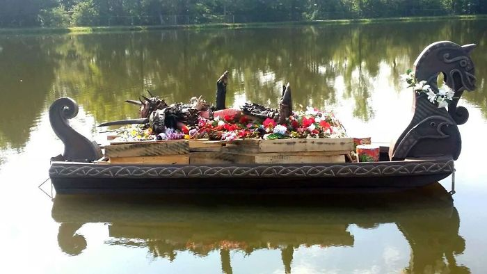 This Is Oderus Urungus Of Gwar Before Being Set Ablaze In Viking Style Funeral
