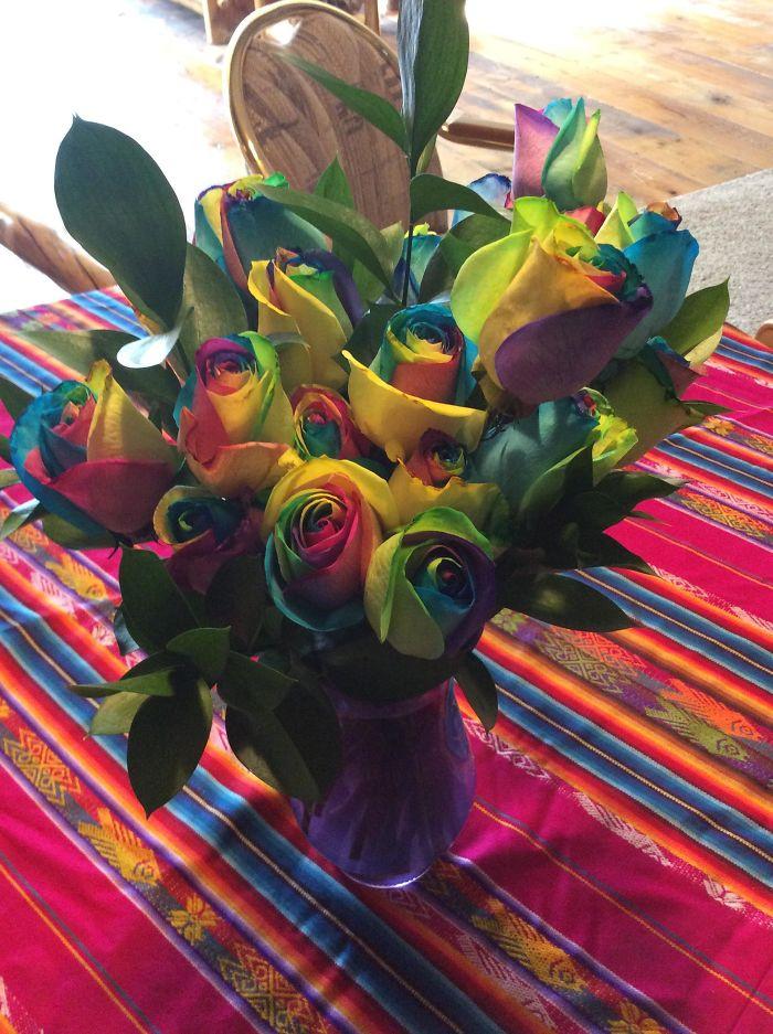 Tie Dye Roses For My Hippie Sisters Funeral