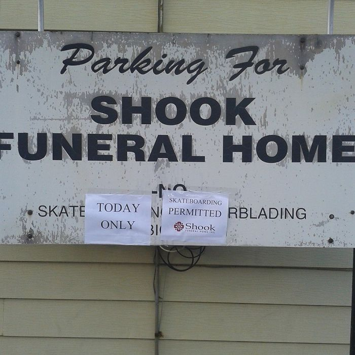 A Good Friend Of Mine Passed Away On Saturday. He Was The Founder Of Shralpers Union, A Community For People Who Were Into Skateboading, Long Boarding, Snowboarding, And Other Similar Activities. The Funeral Home Made An Exception For His Services Today
