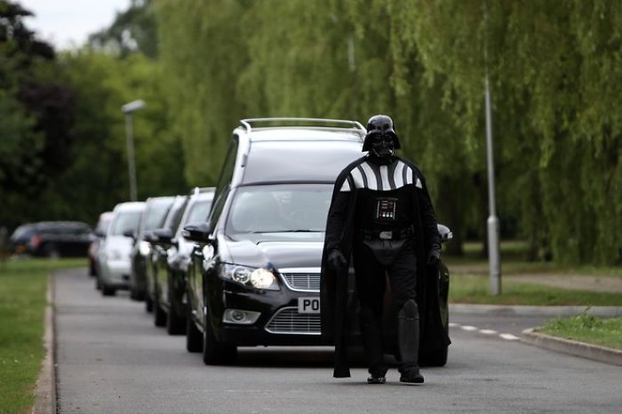 Darth Vader Leading A Funeral Procession