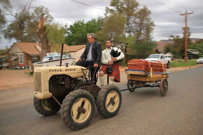 My Grandpa Wanted To Be Driven To His Funeral On His Tractor