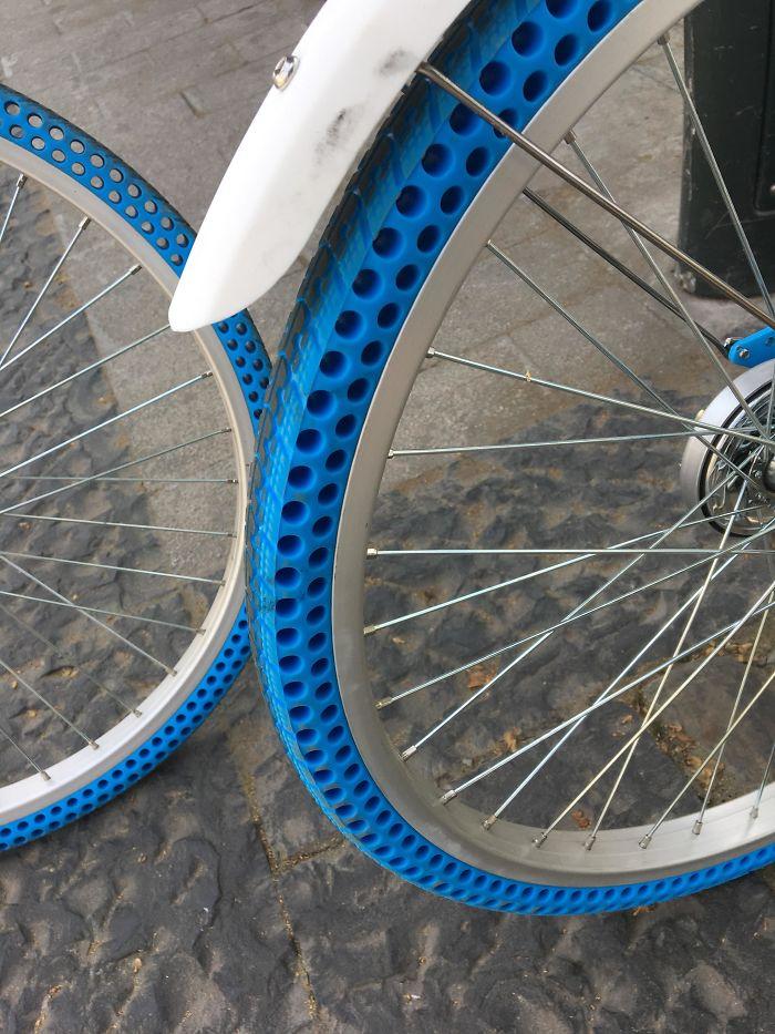 Bicicletas con llantas sin aire
