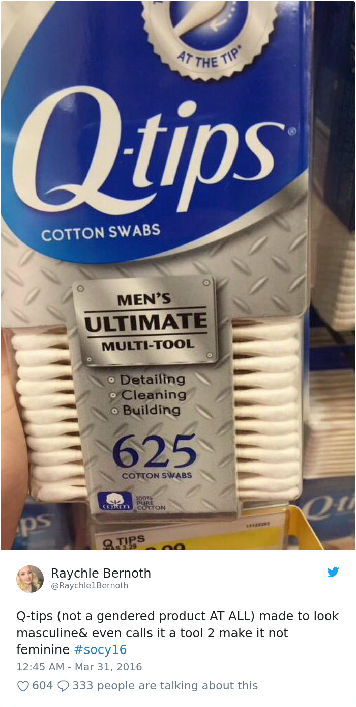 Q-Tips (Not A Gendered Product At All) Made To Look Masculine & Even Calls It A Tool To Make It Not Feminine