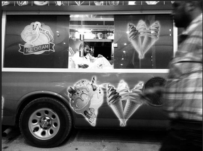 Walking By Ice-Cream Truck