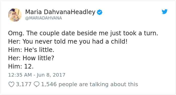 Woman Overheard The Craziest Conversation Of A Guy Revealing To His Girlfriend His 12-Year-Old Son