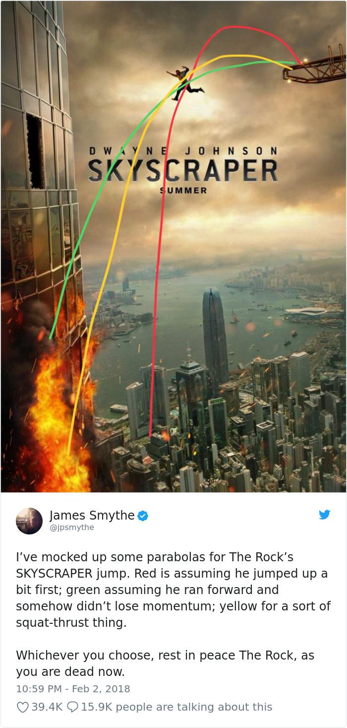 959561969618620416 png  700 - Lagi Rame, Nih! Ngerasa Nggak Kalau Ada yang Aneh Dengan Poster Film Skyscraper ini?