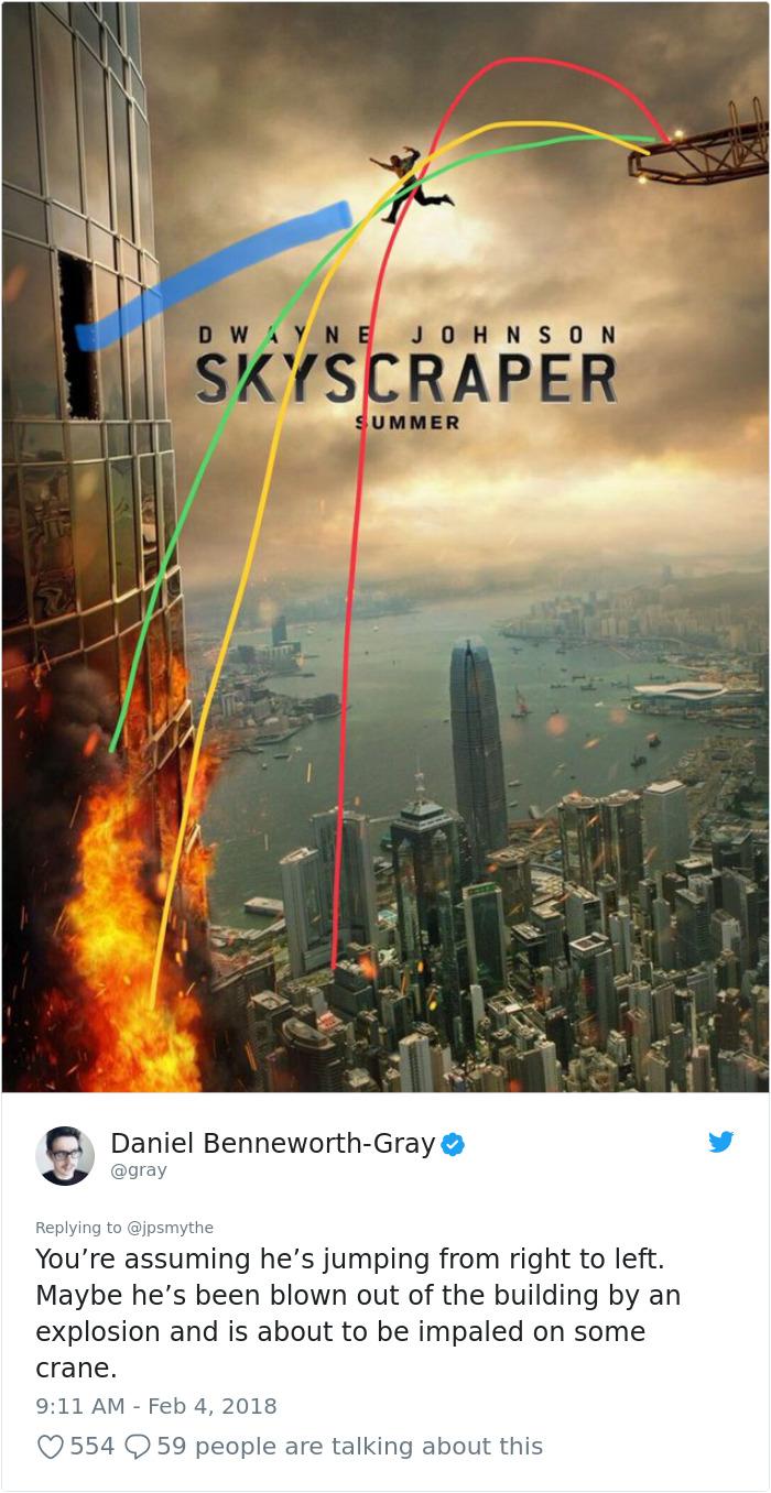 960078338281934850 png  700 - Lagi Rame, Nih! Ngerasa Nggak Kalau Ada yang Aneh Dengan Poster Film Skyscraper ini?