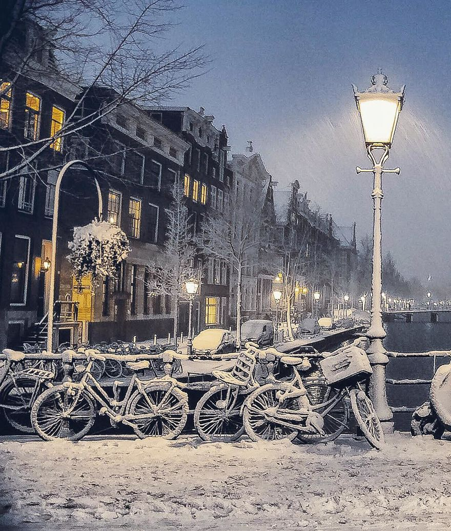 The Snowy Amsterdam