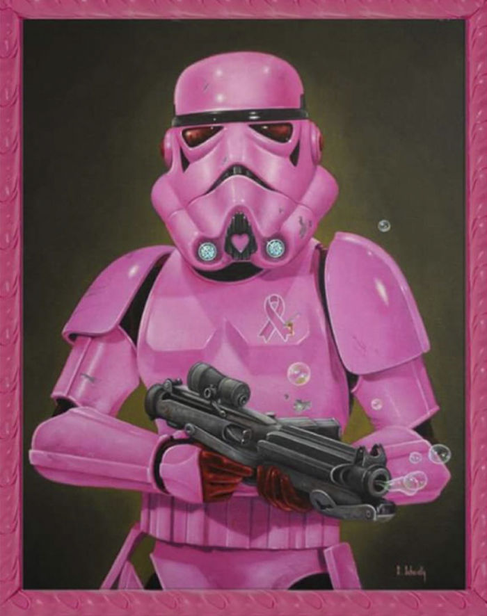 Artist Breaks The Traditional Masculinized Image Of Famous People Taking Them To Their Pink World
