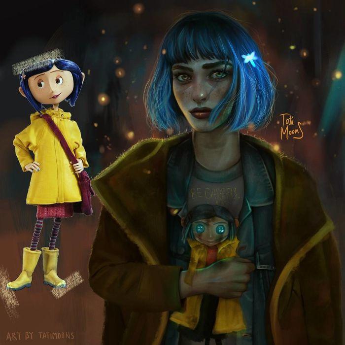 Esta artista hace versiones más realistas de personajes de dibujos ... 27e4580e265