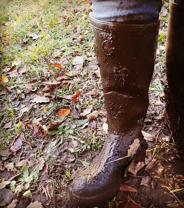 When The Muddy Patch Is Exactly 1 Wellington Boot Deep