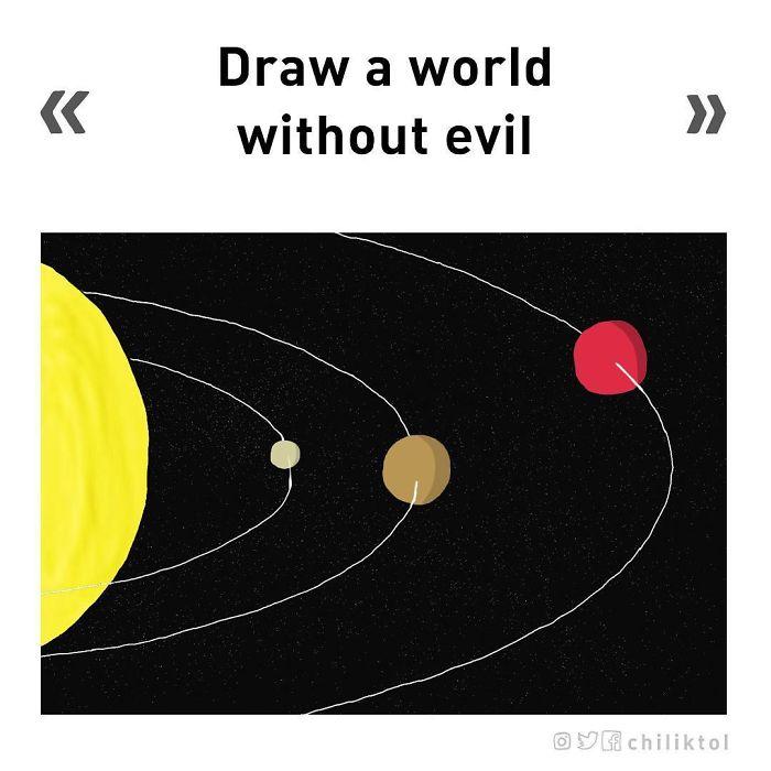 Dibuja un mundo sin maldad