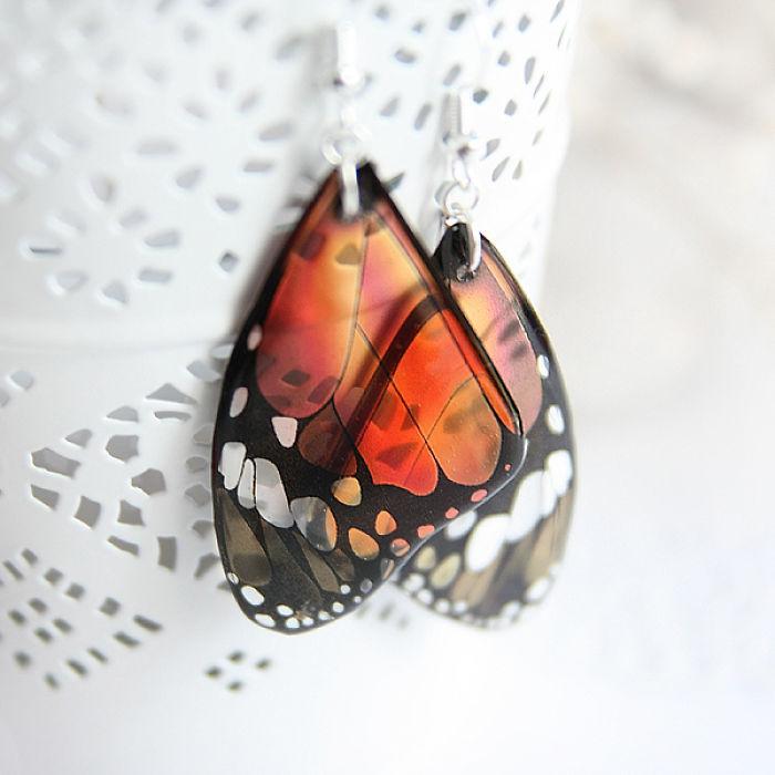 I Create Beautiful Realistic Butterfly Earrings