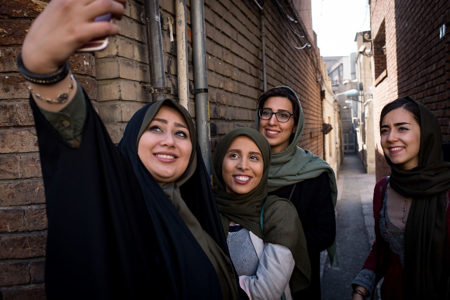 Iranian Girls Taking A Selfie