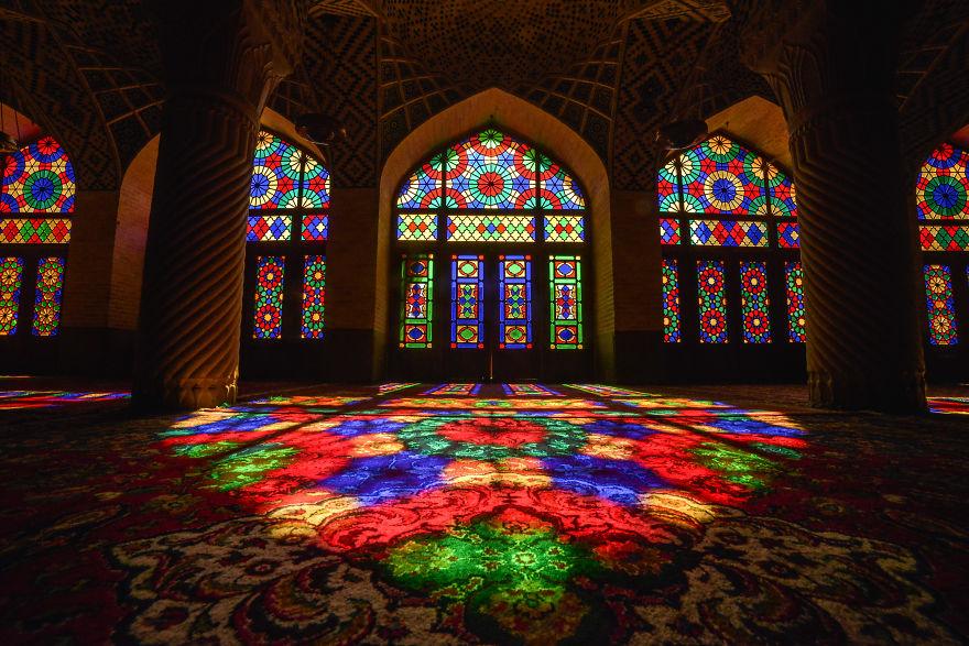 Nasir-Ol-Molk Mosque In Chiraz
