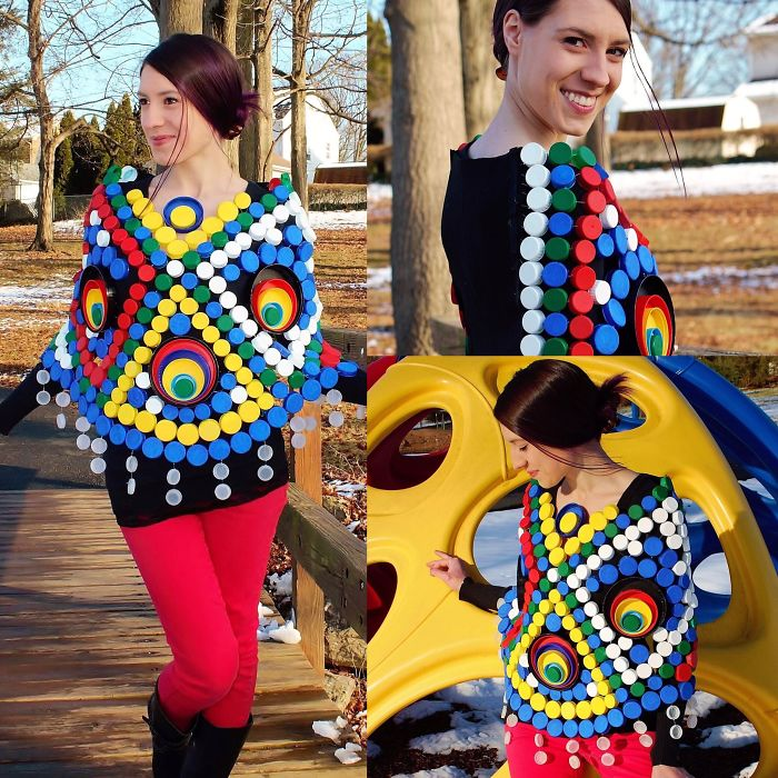 I Recycled Over 250 Plastic Bottle Caps Into This Colorful Poncho