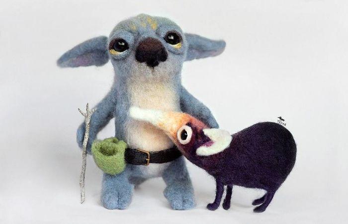Felt Toys By Russian Artist Tyorka
