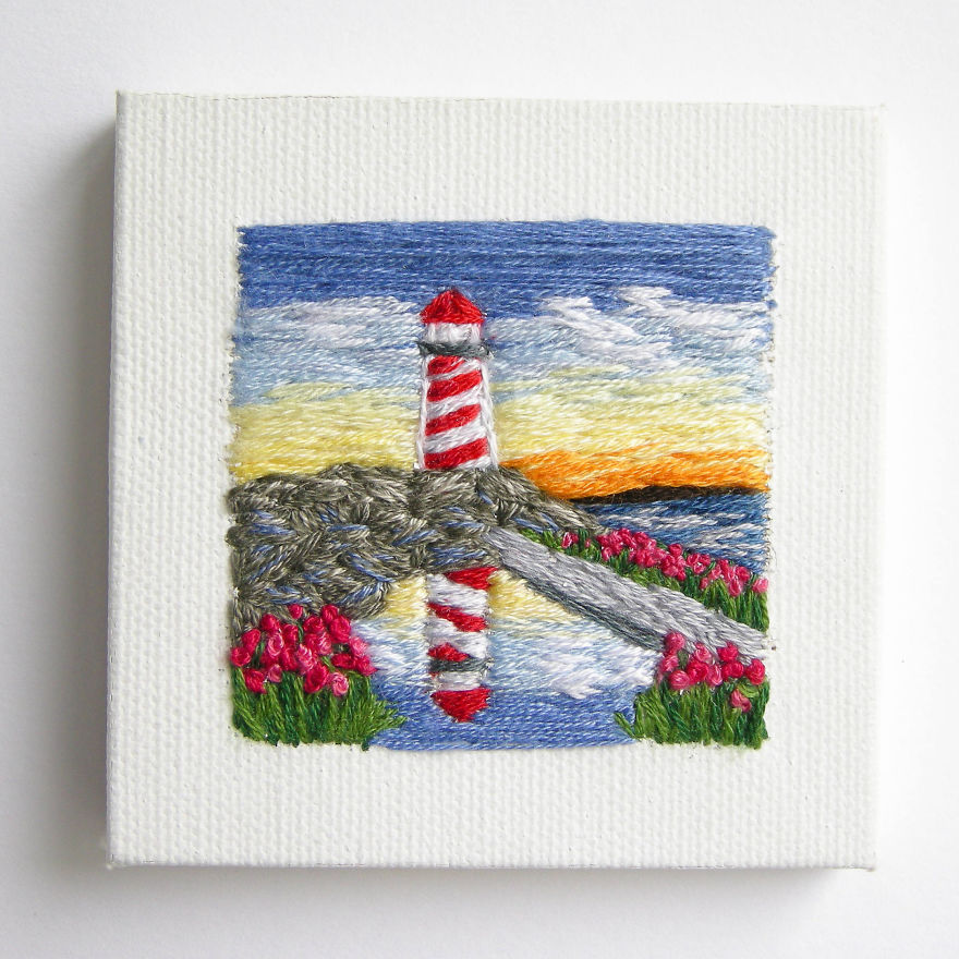 I Create Landscapes With Needle And Thread