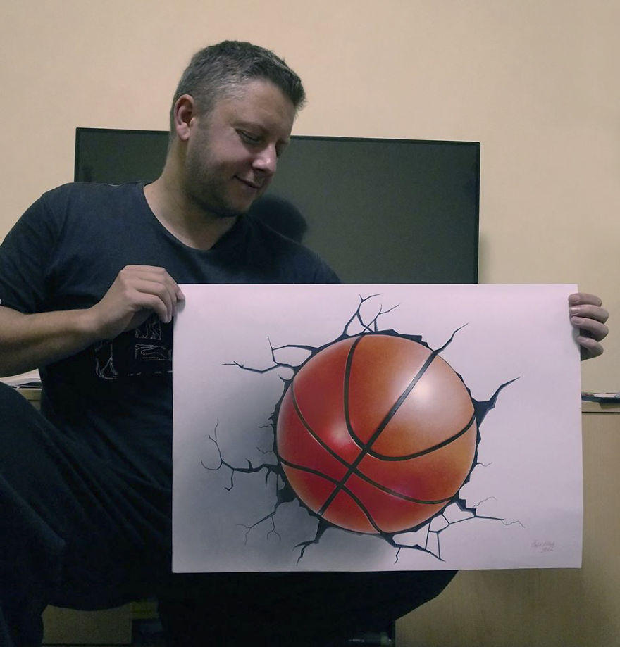 3D Basketball Ball In Real Size