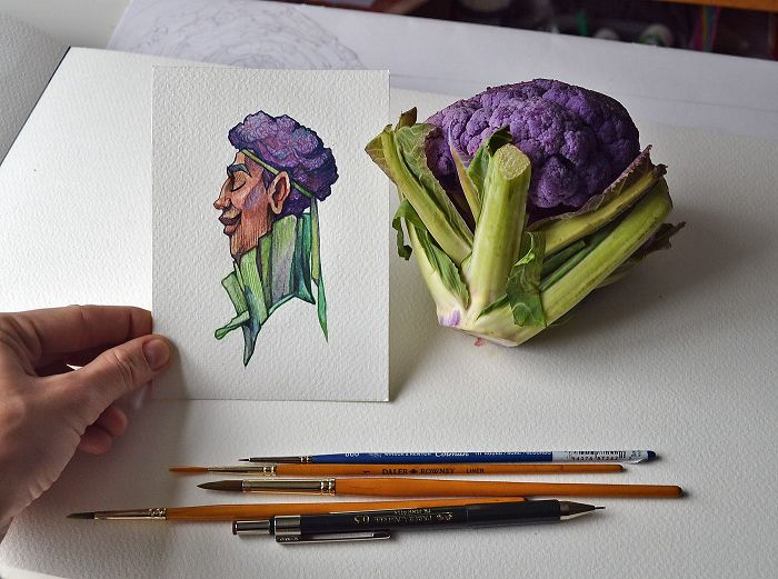 A Chill Purple Cabbage