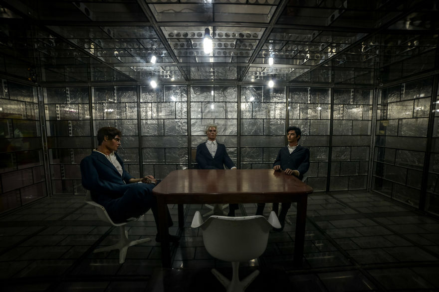 Three Dummies In The Secret Cia Meeting Room, In The Former United States Embassy In Tehran