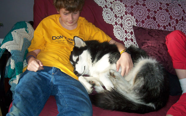 My Son And Our Siberian Husky