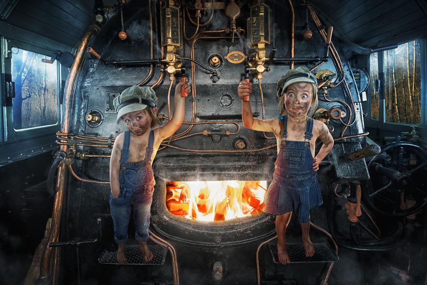 Mila Button And Lou-Ke The Engine Driver