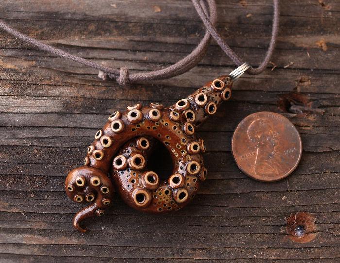 Octopus Tentacle Pendants
