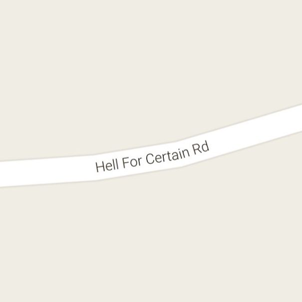 Hell For Certain Road, Hyden Kentucky, USA