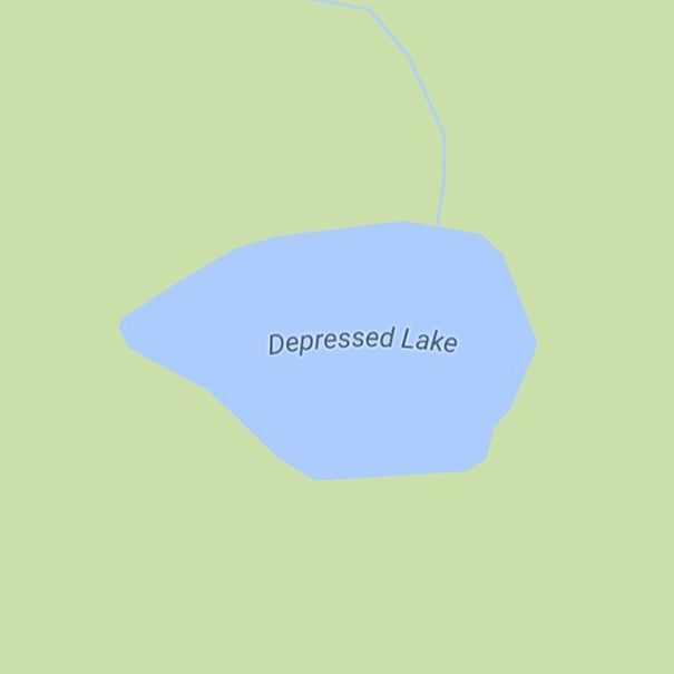 Depressed Lake, California, USA