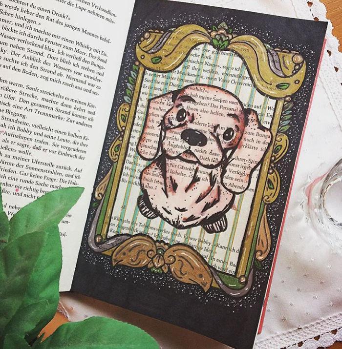 I Use Old Books To Create Art