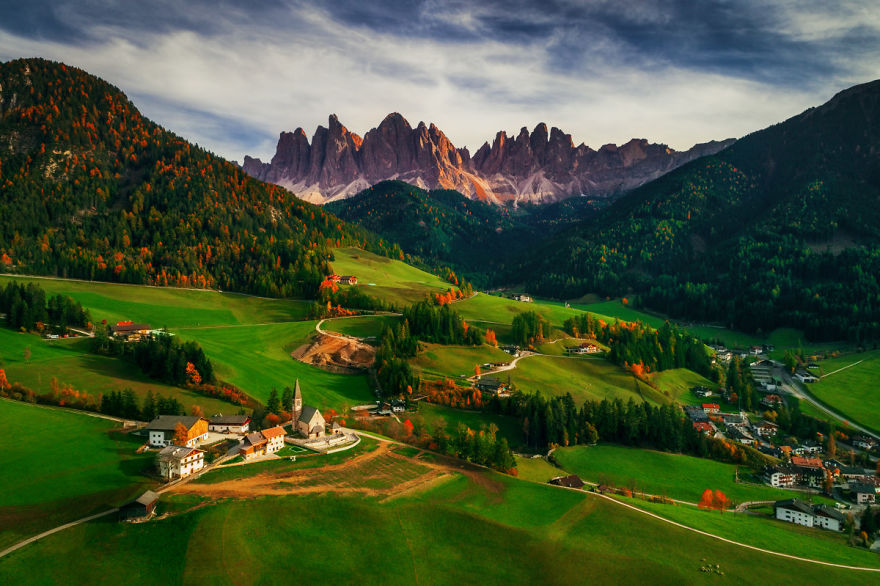 """Santa Maddalena Village In Front Of The Geisler"" By Valentin Valkov, Third Prize In Landscape Category, Professional Group"