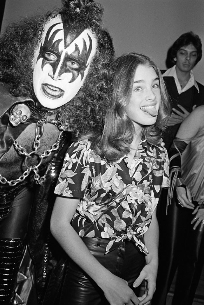 Gene Simmons And Brooke Shields, 1978
