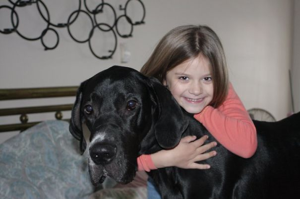 My Youngest And Her New Best Friend. Rescued At 18mos.