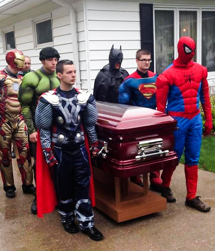 Family Honors 5-Year-Old, Branden Denton, Cancer Victim With Super Heroes At Funeral