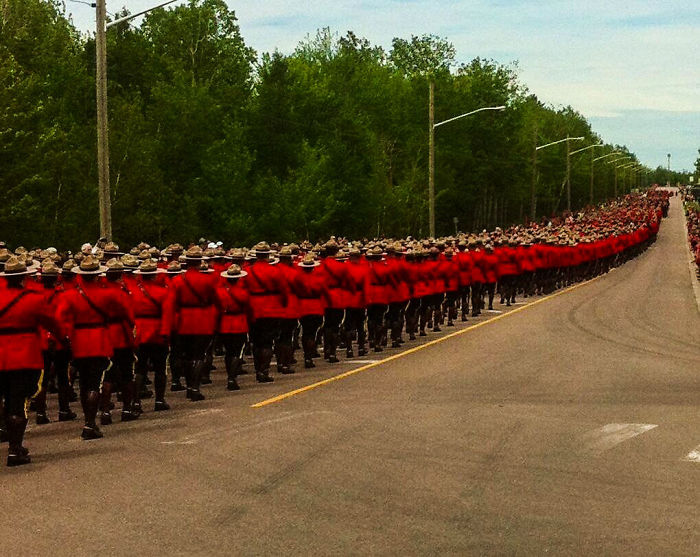 More Than 7,000 Rcmp And Police/first Responders From The Usa And Great Britain Are In Moncton To Attend The Funeral Of The 3 Slain Officers