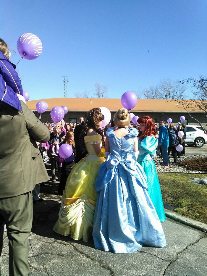 Princesses At A 9 Year Olds Funeral