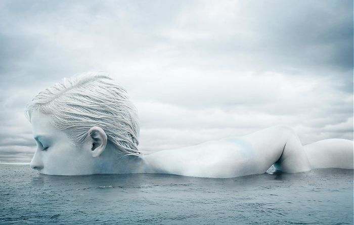 New York Fashion And Underwater Photographer Creates Colossal Icebergs With Fashion Model, And The Results Are Stunning!