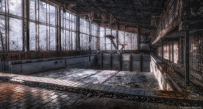 The Azure Swimming Pool In Pripyat, Chernobyl Exclusion Zone