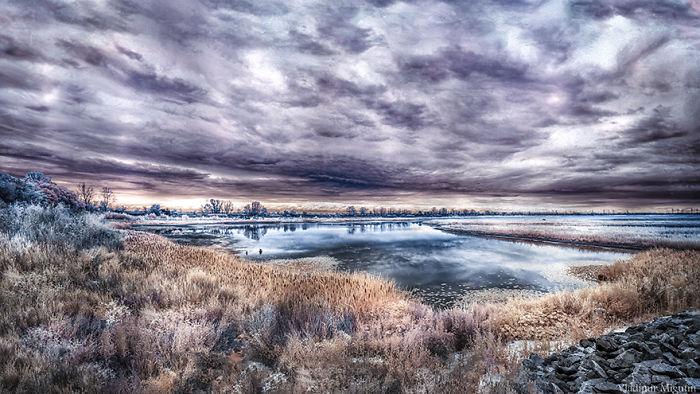Lago dentro de la zona de exclusión
