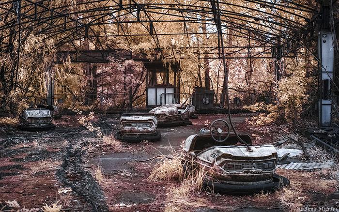 Coches de choque en el parque de atracciones de Pripyat