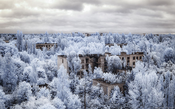 La ciudad fantasma de Pripyat, en Ucrania
