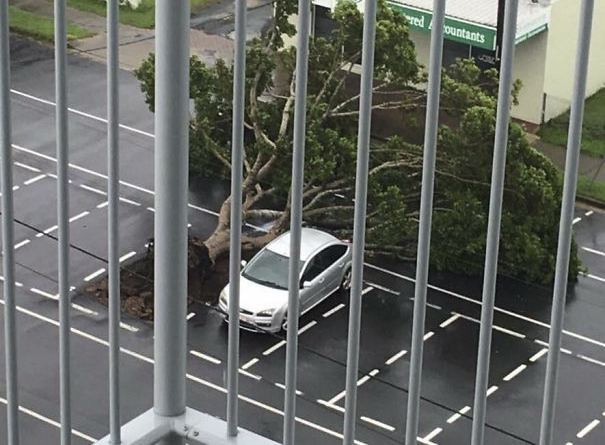 Close Call During A Cyclone In My Home Town Today