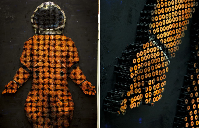 I Created This Astronaut Out Of 5000 Screws